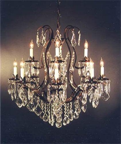Wedding accessories table rentals chair rentals dance floor 12 light wrought iron chandelier aloadofball Images