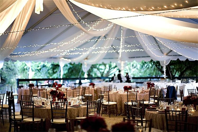 u0027Cross-Styleu0027 White String Lighting & Wedding Accessories Table Rentals Chair Rentals Dance Floor ...