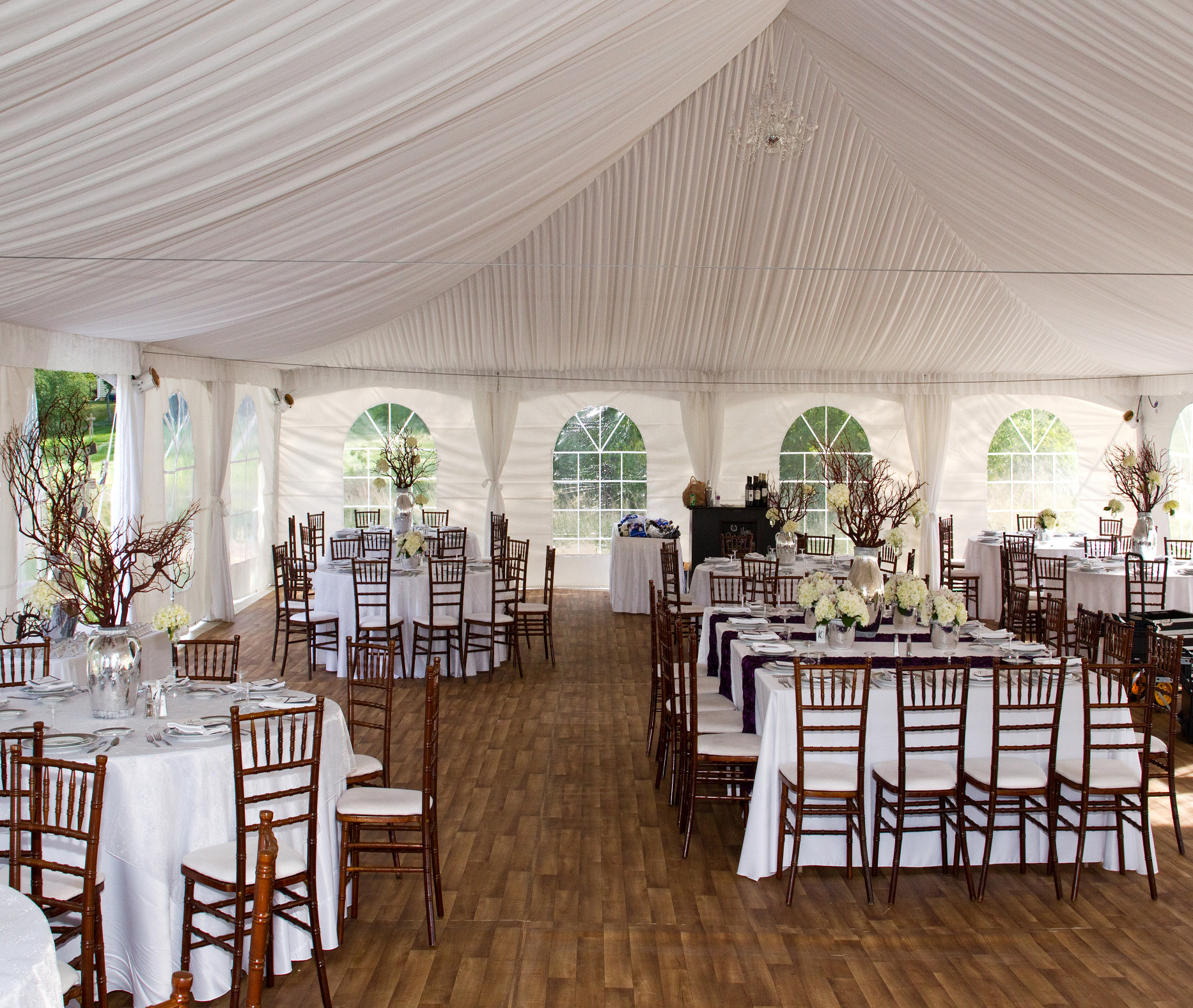 Chiavari chairs rental chicago chairs for - Full Gathered Tent Liner