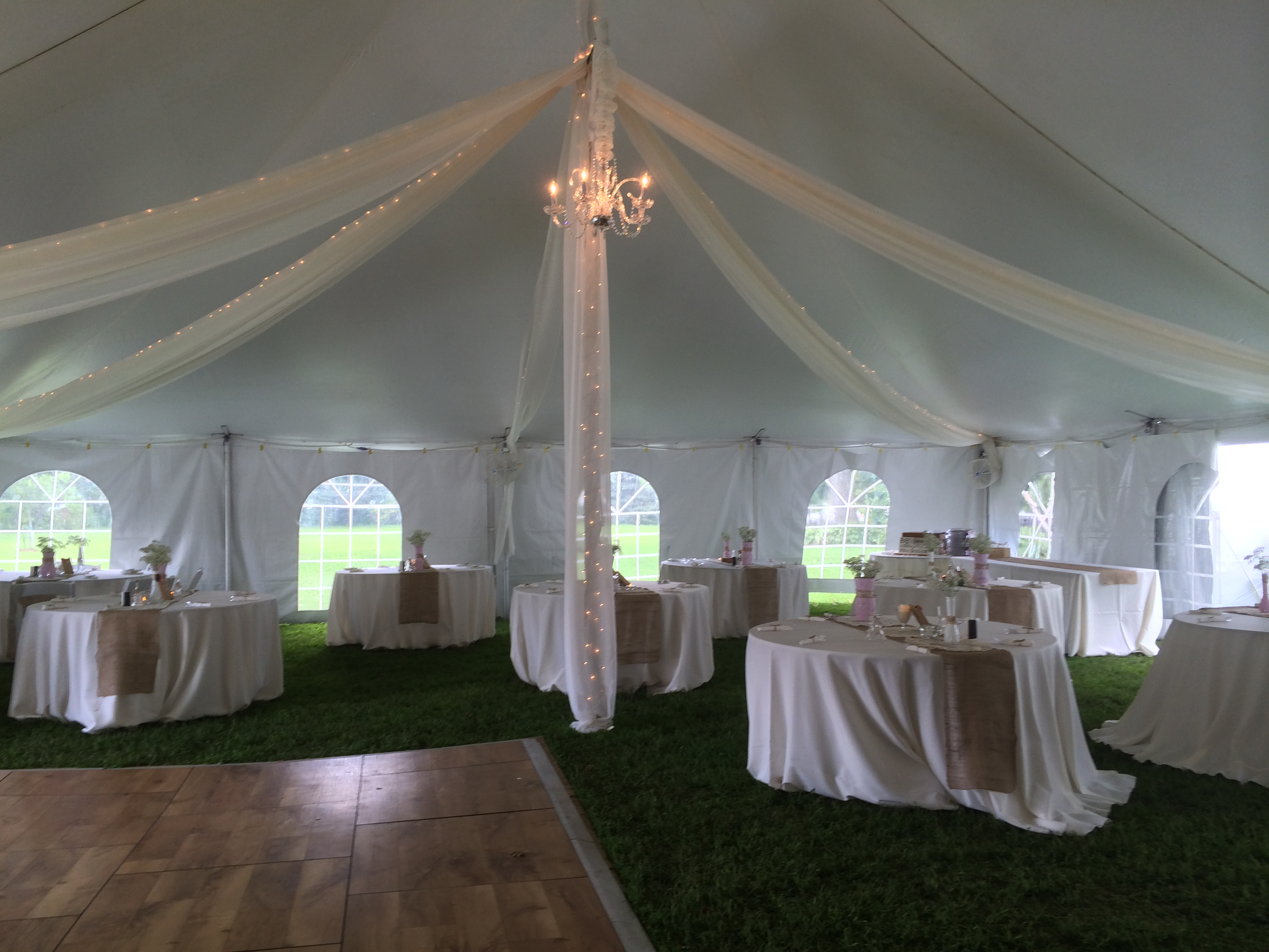 Tent Kiting with Sting & Wedding Accessories Table Rentals Chair Rentals Dance Floor ...